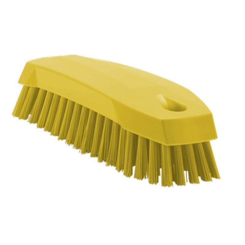 Vikan Kleine werkborstel polyester vezels, medium 165x50x45mm geel