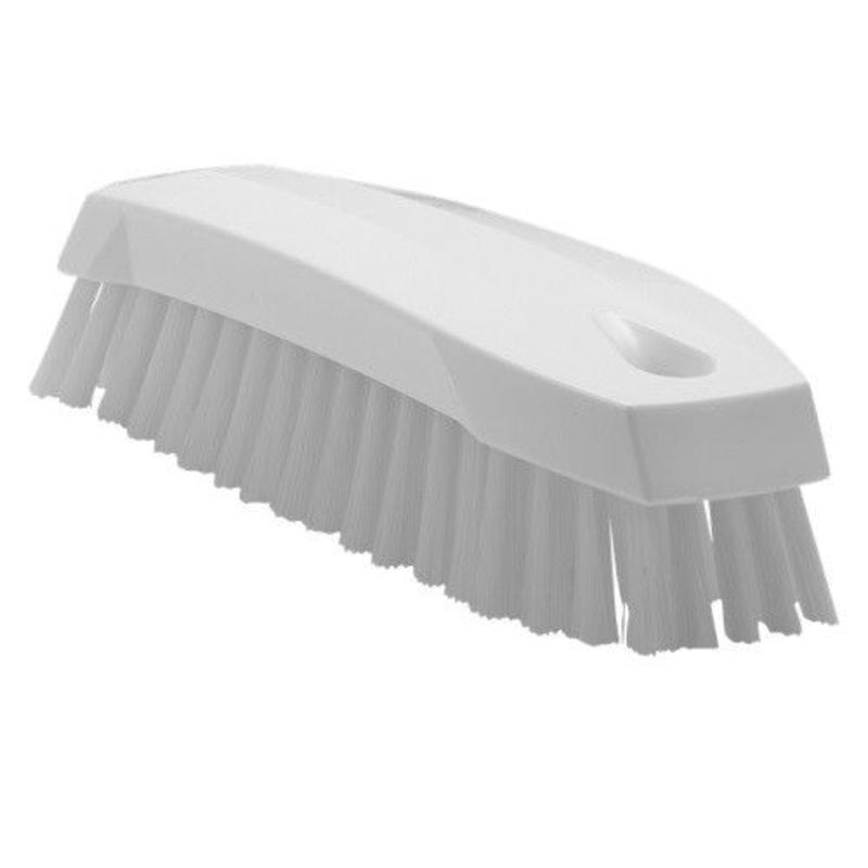 Vikan Kleine werkborstel polyester vezels, medium 165x50x45mm wit