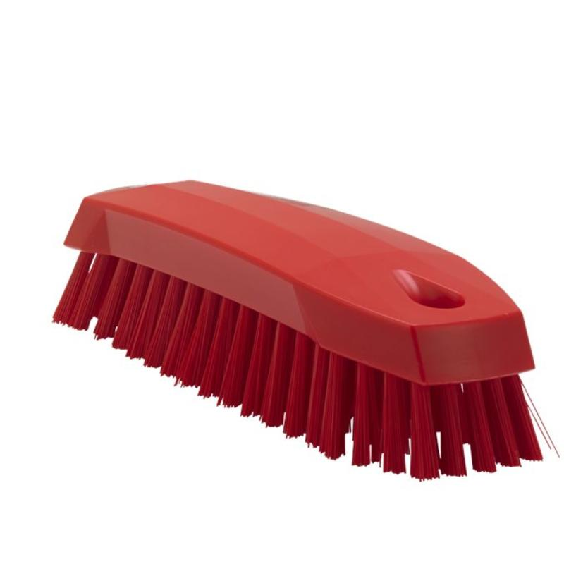 Vikan Kleine werkborstel polyester vezels, medium 165x50x45mm rood