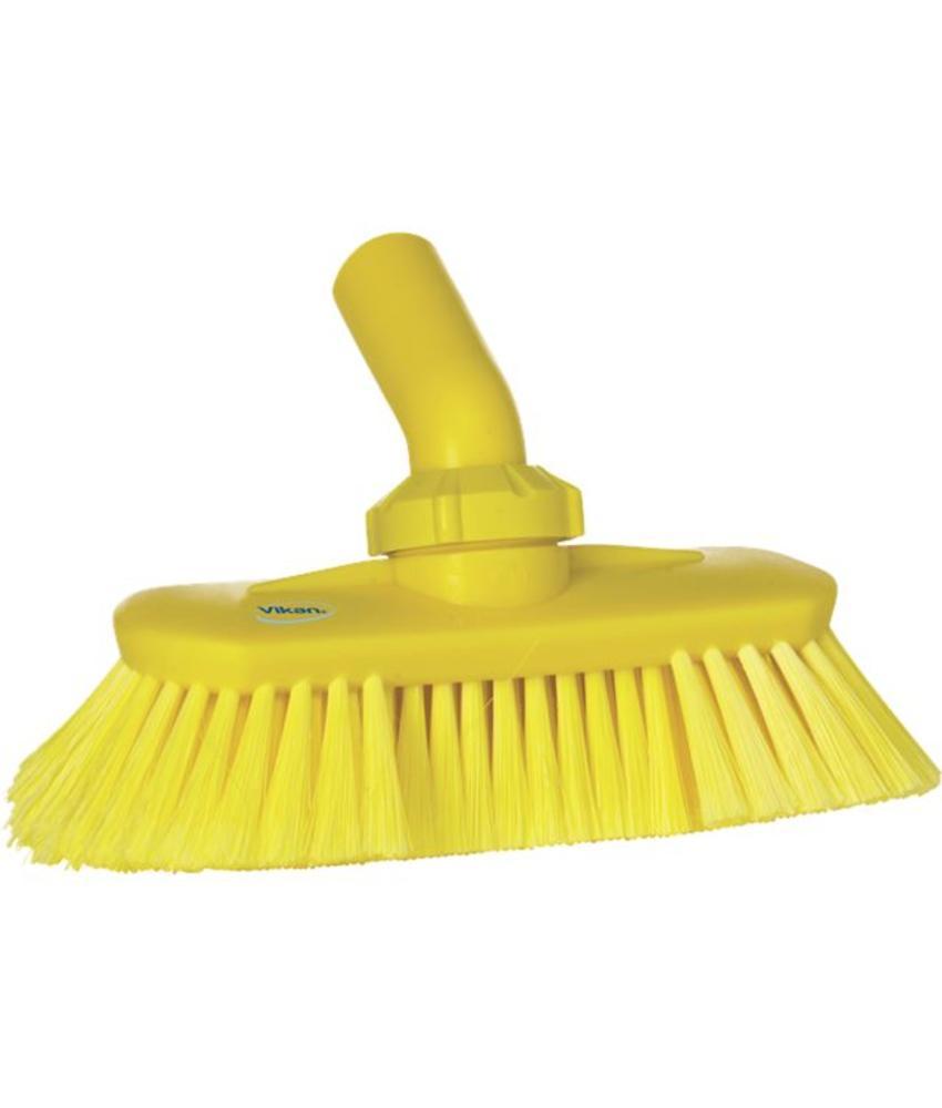 Vikan, Hoekverstelbare borstel met watertoevoer,190x147x70mm geel