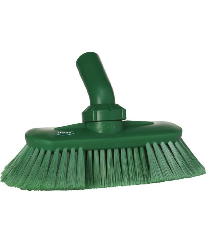 Vikan, Hoekverstelbare borstel met watertoevoer,190x147x70mm groen