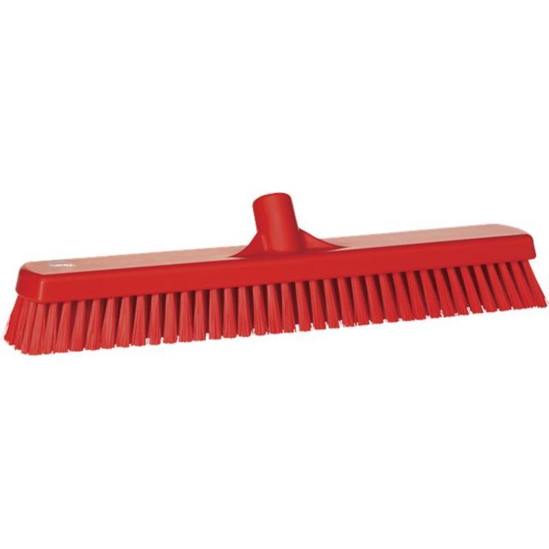 Vikan, Vloerschrobber hard, breed, 470x115x80mm, rood