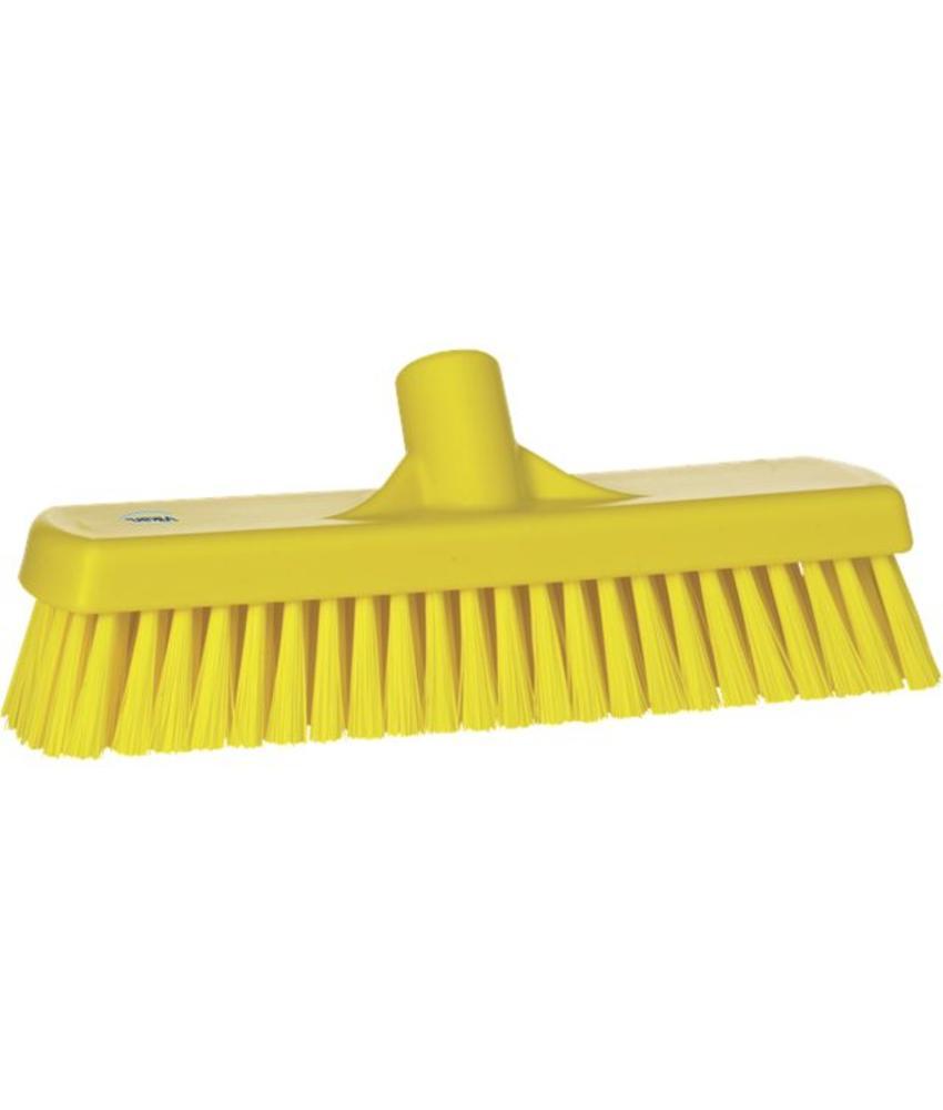 Vikan, Vloerschrobber hard, 305x110x85mm, geel
