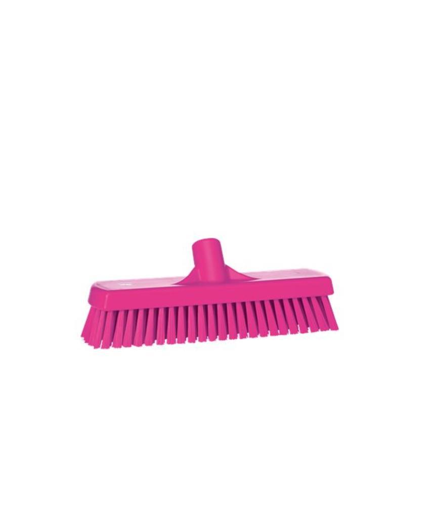 Vikan, Vloerschrobber hard, 305x110x85mm, roze