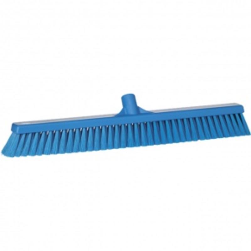 Vikan, Zachte veger breed ,610x125x65mm, blauw