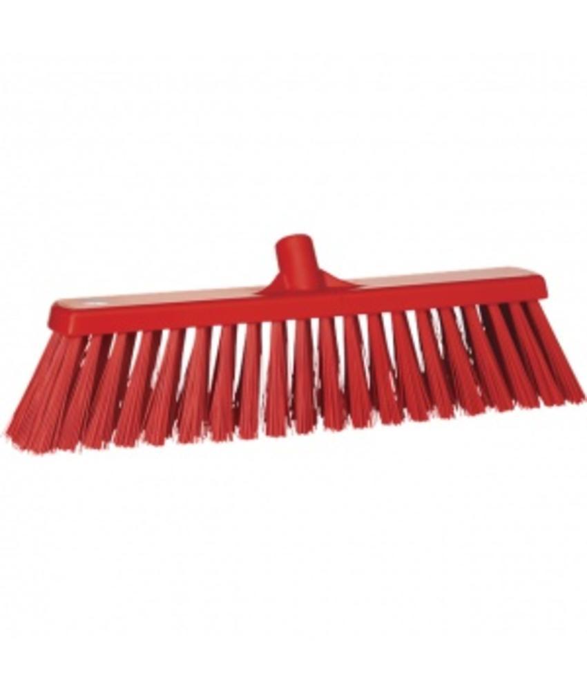 Vikan,Brede bezem, polyester vezels, hard, 530x175x90mm, rood