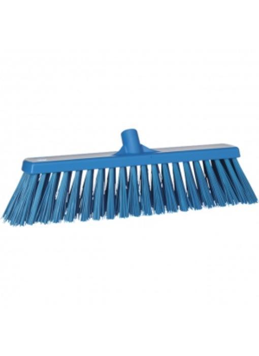 Vikan,Brede bezem, polyester vezels, hard, 530x175x90mm, blauw