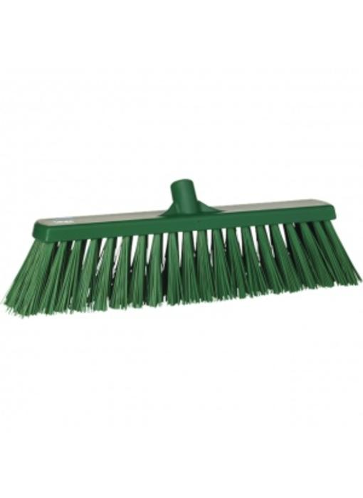 Vikan,Brede bezem, polyester vezels, hard, 530x175x90mm, groen