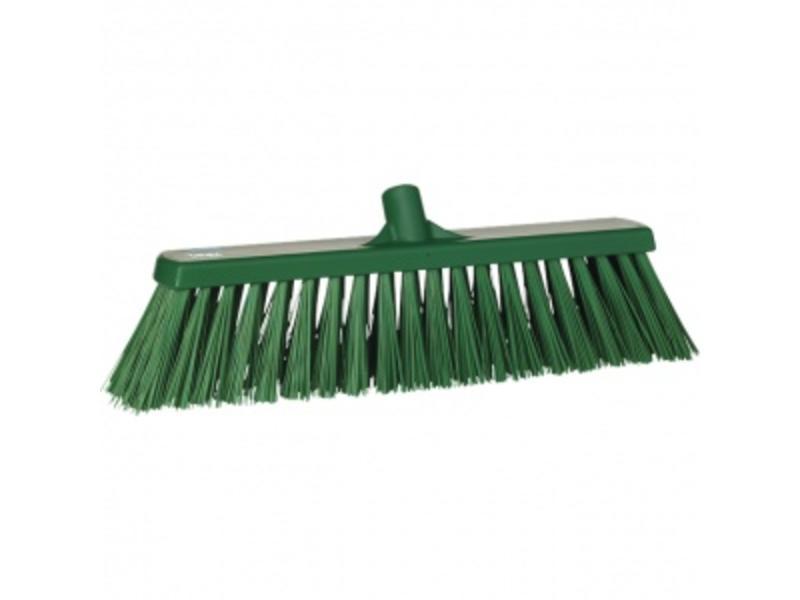 Vikan Vikan,Brede bezem, polyester vezels, hard, 530x175x90mm, groen