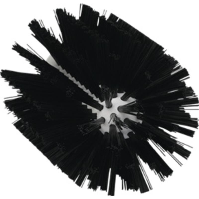 Vikan Pijpborstel, steelmodel, ø103 mm, medium, zwart