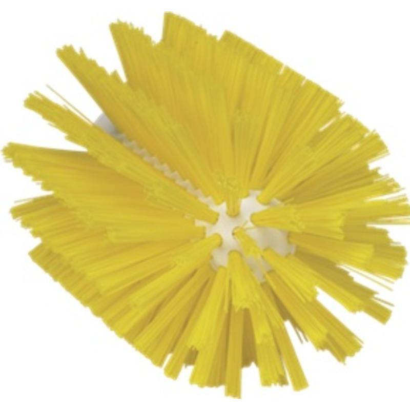 Vikan Pijpborstel, steelmodel, ø103 mm, medium, geel