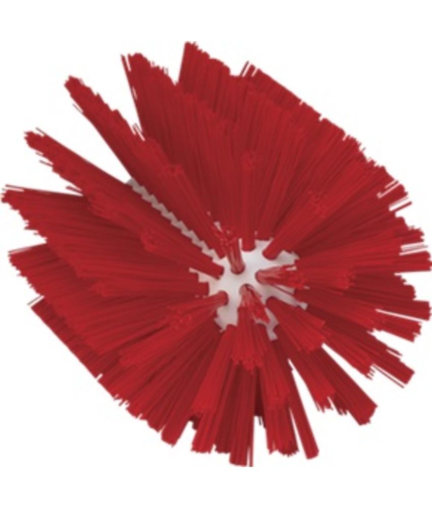 Vikan Pijpborstel, steelmodel, ø103 mm, medium, rood