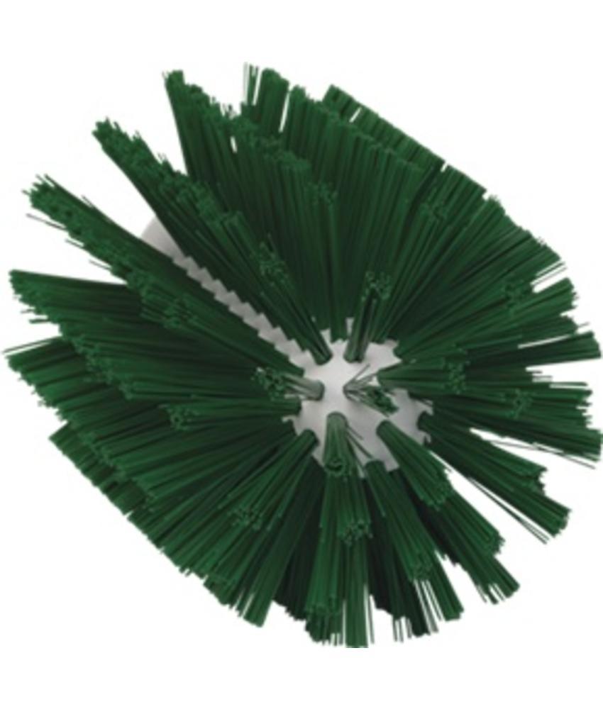 Vikan Pijpborstel, steelmodel, ø103 mm, medium, groen