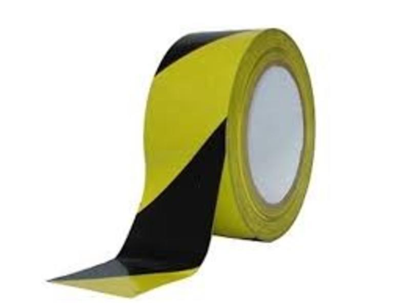 Afzetlint 500M, Zwart/Geel