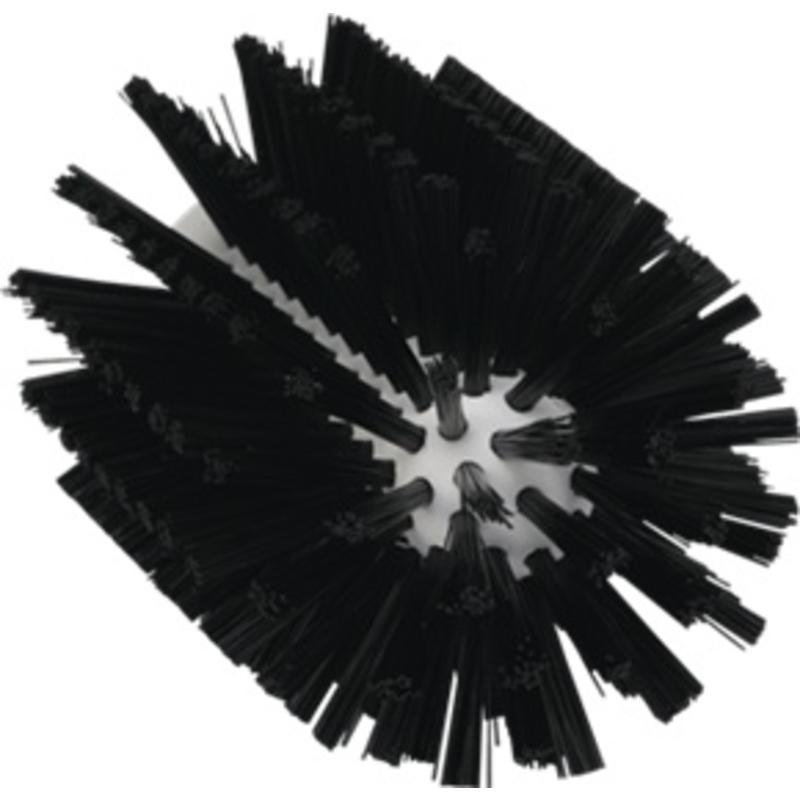 Vikan Pijpborstel, steelmodel, ø90 mm, medium, zwart