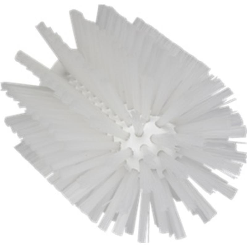 Vikan Pijpborstel, steelmodel, ø90 mm, medium, wit