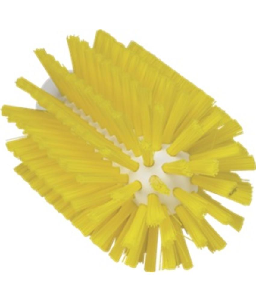 Vikan Pijpborstel, steelmodel, ø77 mm, medium, geel