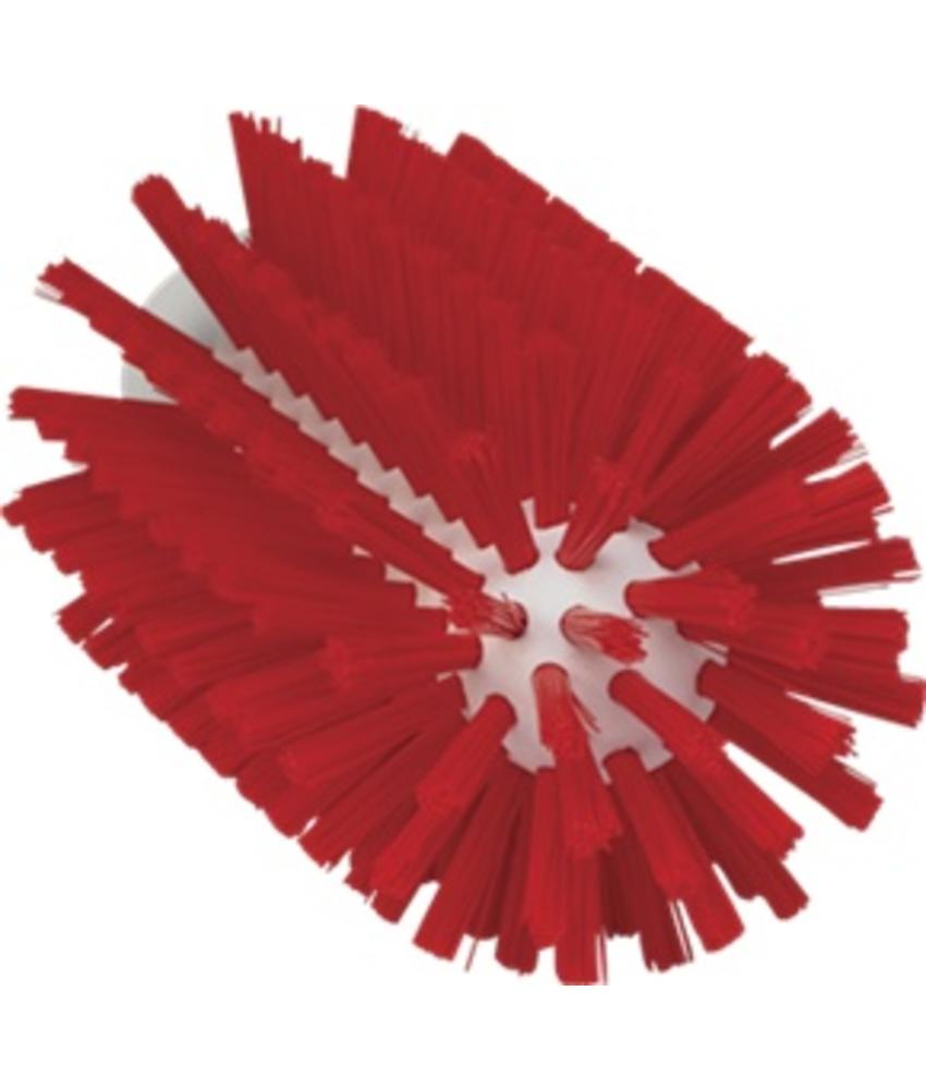 Vikan Pijpborstel, steelmodel, ø77 mm, medium, rood