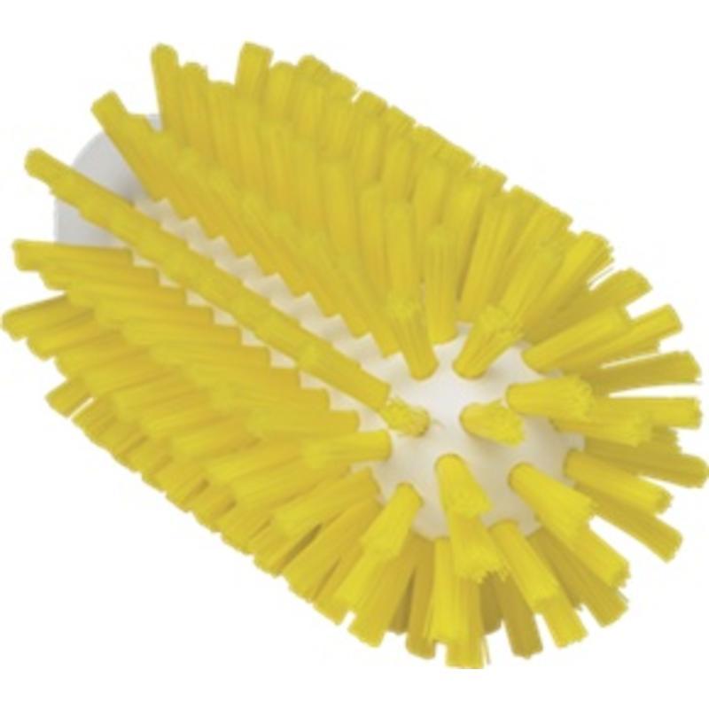 Vikan Pijpborstel, steelmodel, ø63 mm, hard, geel