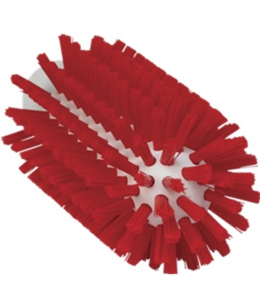 Vikan Pijpborstel, steelmodel, ø63 mm, hard, rood