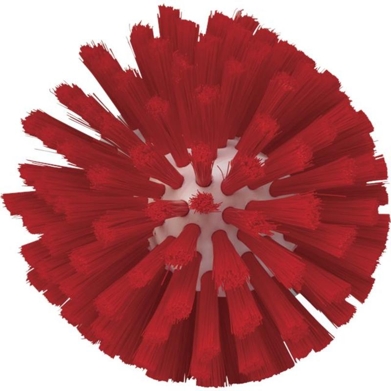 Vikan, Wormhuisborstelkop, medium Ø135x130mm, rood