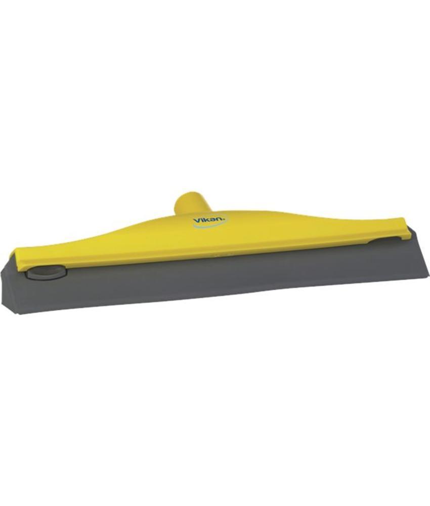 Vikan, Condenstrekker, stevig rubber, 40cm, geel