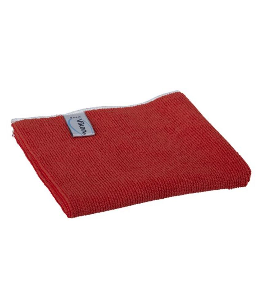 Vikan, Microvezeldoek BASIC 40, 400x400mm, rood