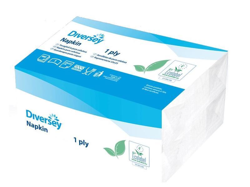 Johnson Diversey Servetten Puur Cellulose (1 laags)
