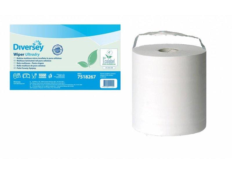Johnson Diversey Multirol Gelamineerd Puur Cellulose Ultradry (2 laags)