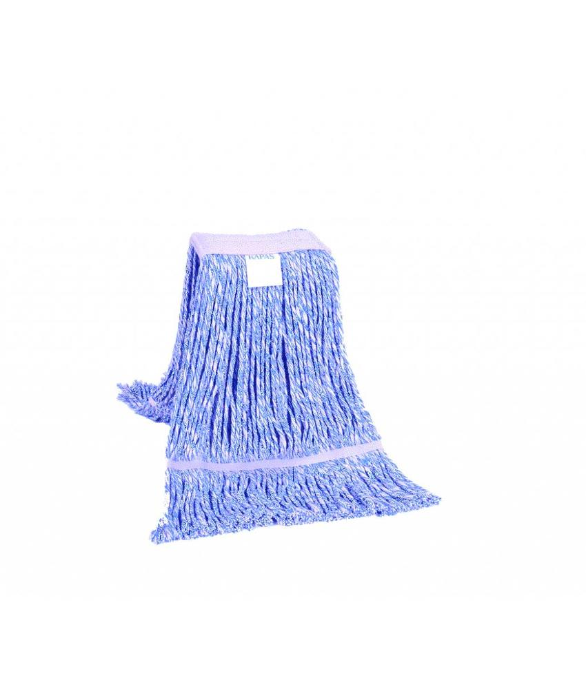 Strengenmop katoen blauw/wit - 350 gram