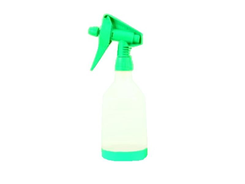 Eigen merk Sprayflacon 0,5 ltr. zonder bedrukking ring groen