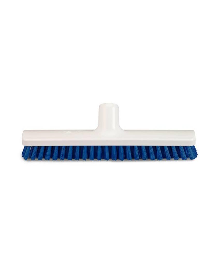 Vloerborstel / bezem blauw - 30cm
