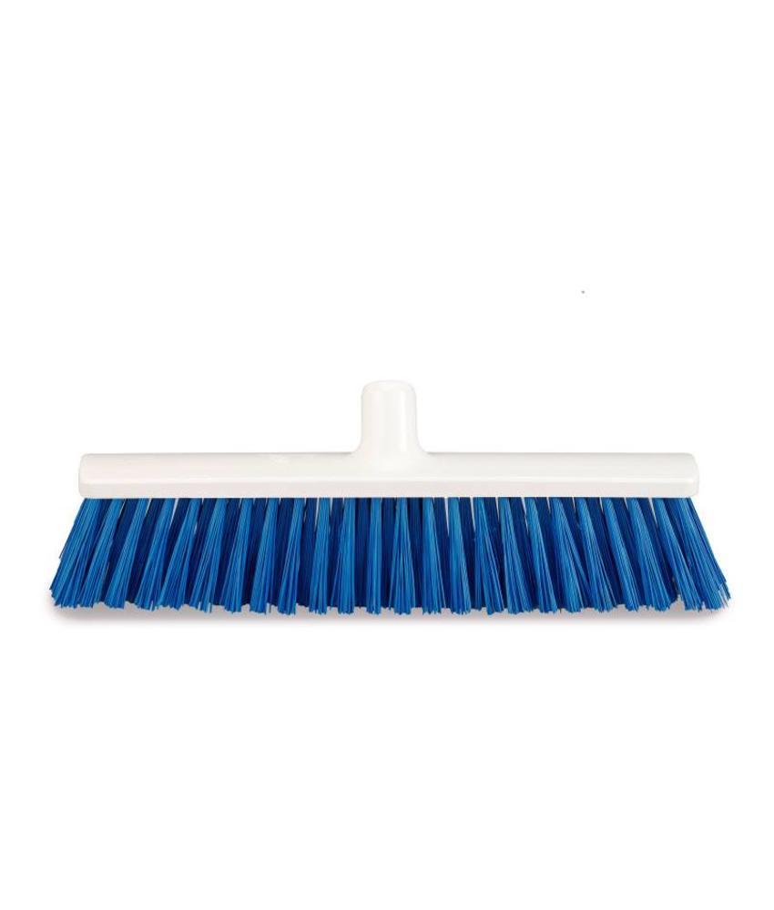 Harde bezem blauw - 40cm