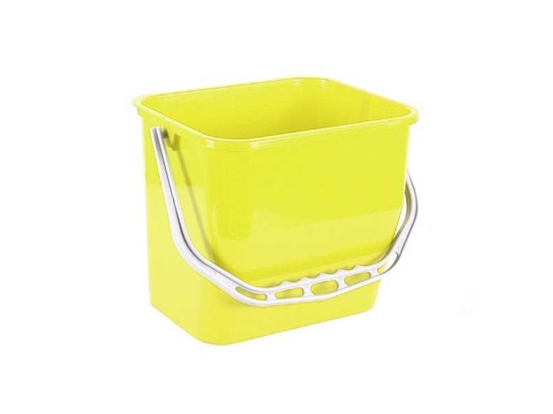Eigen merk Materiaalwagenemmer geel - 6 liter
