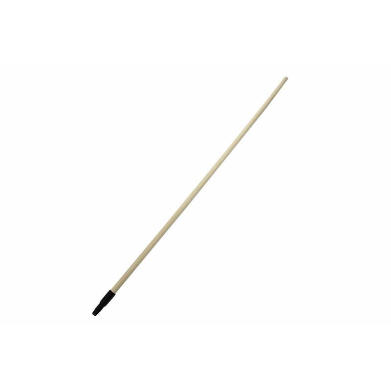 Houten steel voor borstelwerk met schroefdraad, 150 cm
