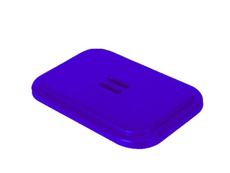 Eigen merk Deksel voor afvalzakhouder 70 liter dubbel - Blauw