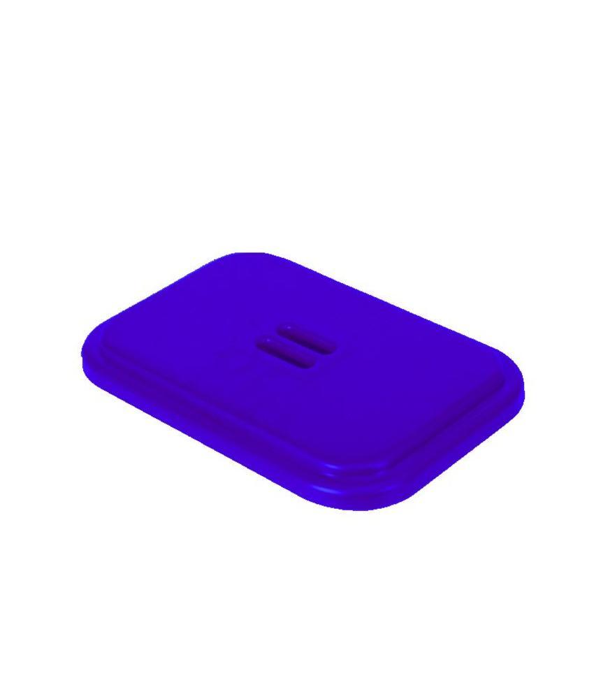 Deksel voor afvalzakhouder 70 liter dubbel - Blauw