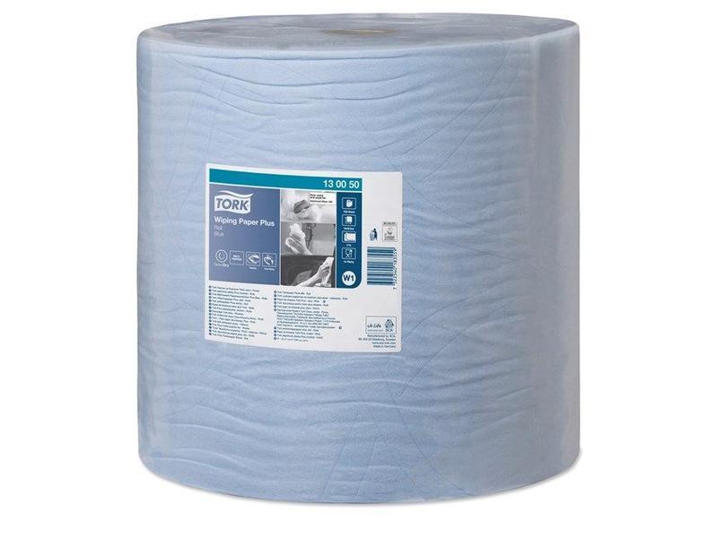 Tork Tork Wiping Plus Rol Poetspapier 2-laags Blauw W1