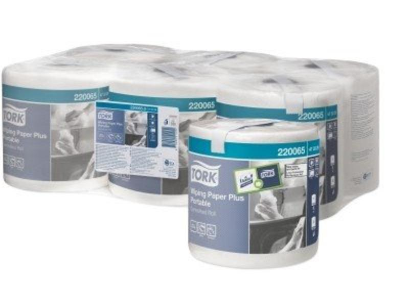 Tork Tork Wiping Paper Plus Centerfeed Roll Portable