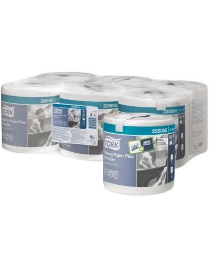 Tork Wiping Paper Plus Centerfeed Roll Portable