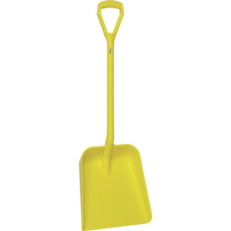 Vikan, Lichtgewicht schop D-greep, korte steel 1035 mm, geel