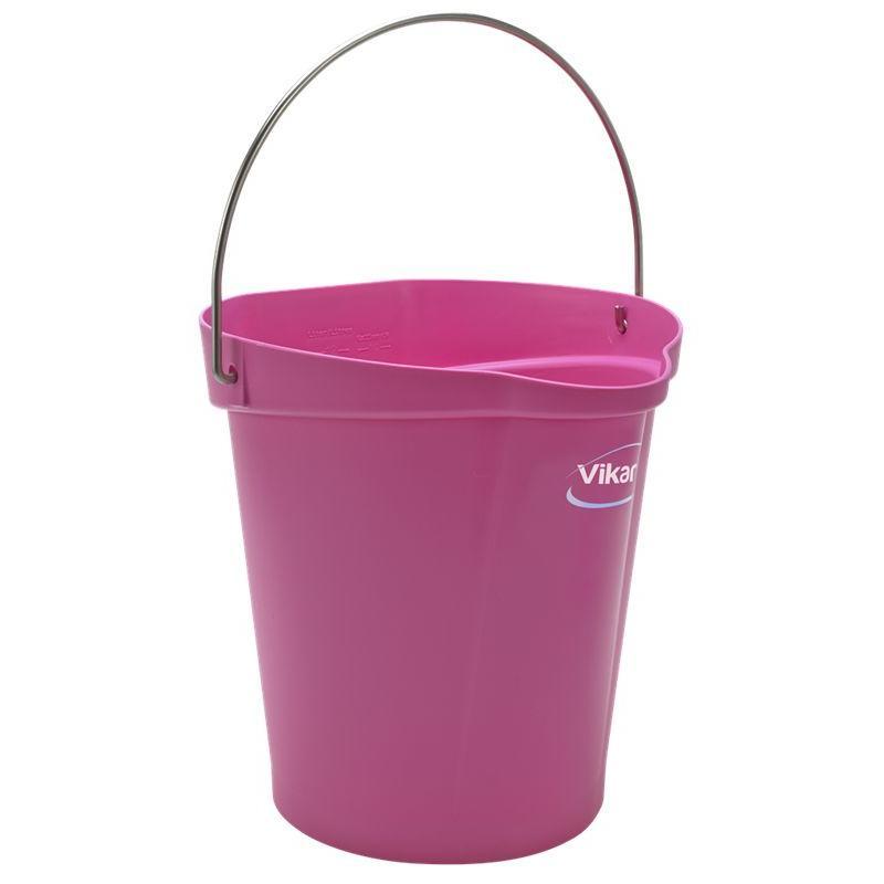 Vikan, Emmer 12 liter, roze