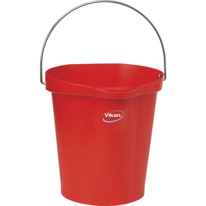 Vikan, Emmer 12 liter, rood