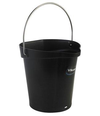Vikan Vikan, Emmer 6 liter, zwart