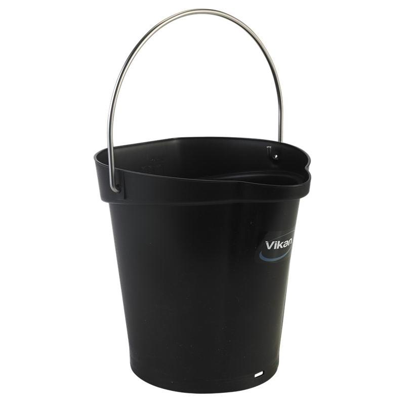 Vikan, Emmer 6 liter, zwart