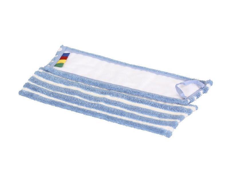 Eigen merk Microvezel-combi blauw/wit met velcro