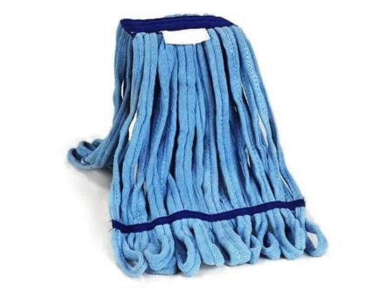 Eigen merk Microvezeldoek Mop blauw met band - 350 gram