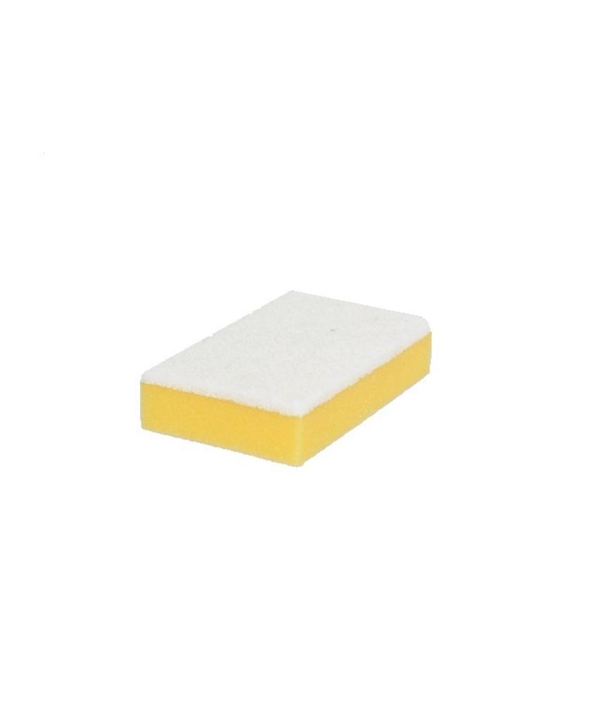Schuurspons geel met witte pad (pak á 10 stuks)