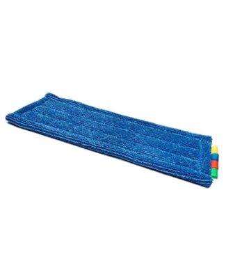 Eigen merk Microvezel blauw pockets en flap met 2 ringen