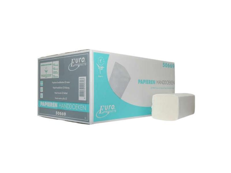 Euro Products Euro Products Z-vouw, 2 laags Vouwhanddoekjes tissue wit